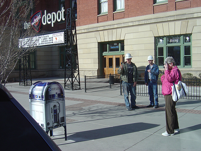 In Salt Lake City, the R2-D2 box is an eye-popping, customer-stopping experience.