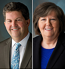 #USPS PMG Pat #Donahoe and COO Megan #Brennan, who will succeed him when he retires Feb. 1, 2015.